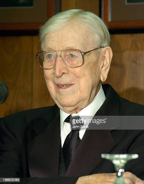 John R Wooden during Saint Joseph's Jameer Nelson Wins John R Wooden Award at The Los Angeles Athletic Club in Los Angeles California United States