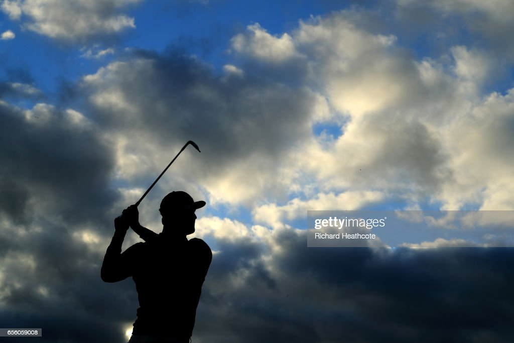 John Rahm of Spain warms up on the driving range ahead of a practise round for the WGC Dell Match Play at Austin Country Club on March 21, 2017 in Austin, Texas.