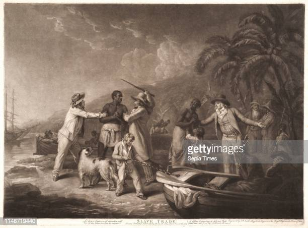 John Raphael Smith British 1751 1812 after George Morland British 1763 1804 Slave Trade 1791 Mezzotint on offwhite laid paper Plate 481 mm x 655 mm