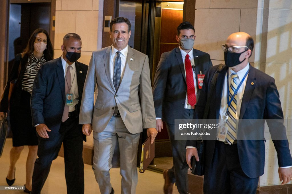 """CIA Director Haspel And The """"Gang Of Eight"""" Meet At U.S. Capitol : News Photo"""