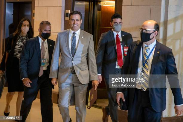 John Ratcliff, Director of National Intelligence arrives for a closed door briefing at the US Capitol on July 02, 2020 in Washington, DC.