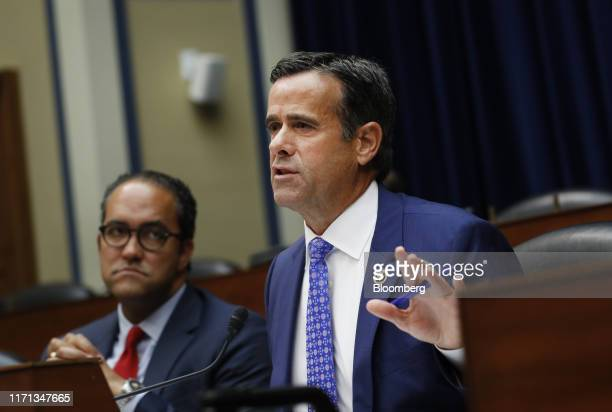 John Ratcliffe a Republican from Texas speaks during a House Intelligence Committee hearing with Joseph Maguire acting director of national...