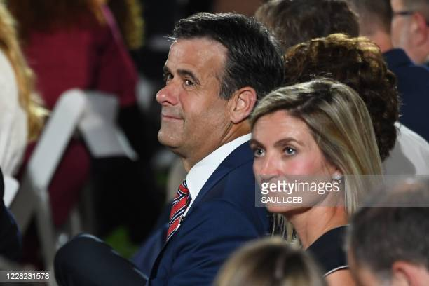 John Ratcliffe, Director of National Intelligence , waits to hear the US president deliver his acceptance speech for the Republican Party nomination...