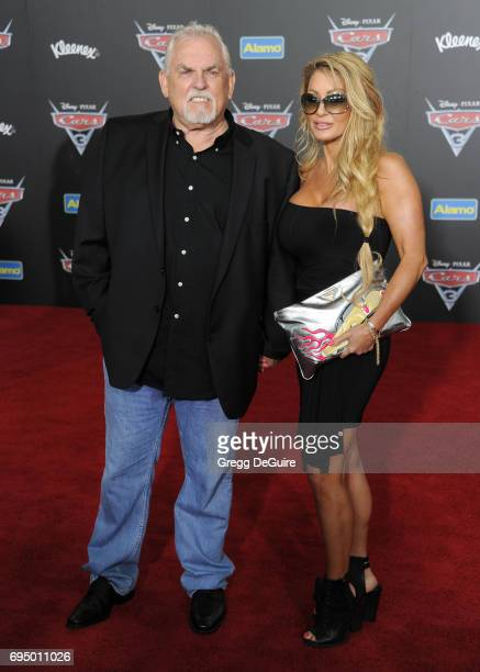 John Ratzenberger and wife Julie Blichfeldt arrive at the premiere of Disney And Pixar's Cars 3 at Anaheim Convention Center on June 10 2017 in...