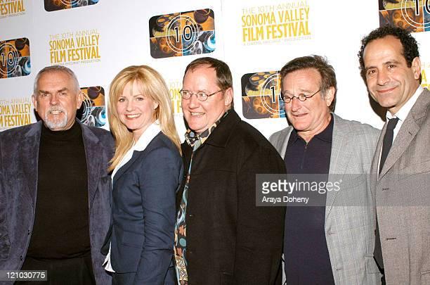 John Ratzenberger Bonnie Hunt John Lasseter Robin Williams and Tony Shalhoub