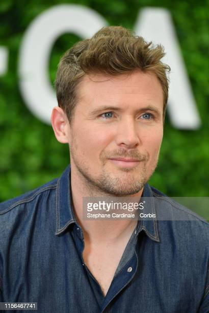 John Reardon poses during a photocall for the TV show Hudson and Rex as part of the 59th Monte Carlo TV Festival Day Four on June 17 2019 in...