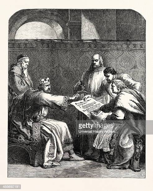 John Refusing To Sign The Articles Of The Barons