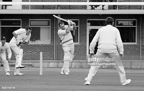 John Reid batting for New Zealand during the 3rd Test match between England and New Zealand at Headingley Leeds 9th July 1965 Jim Parks is the...