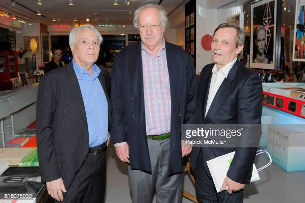 John Reinhold Robert Brown and Randy Hunt attend Book Signing of Andy Warhol Making Money with BERKELEY REINHOLD VINCENT FREMONT at Gagosian Shop on...
