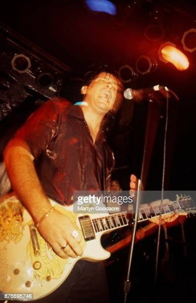 John Reis of Rocket From The Crypt performs on stage at The Garage London 1997