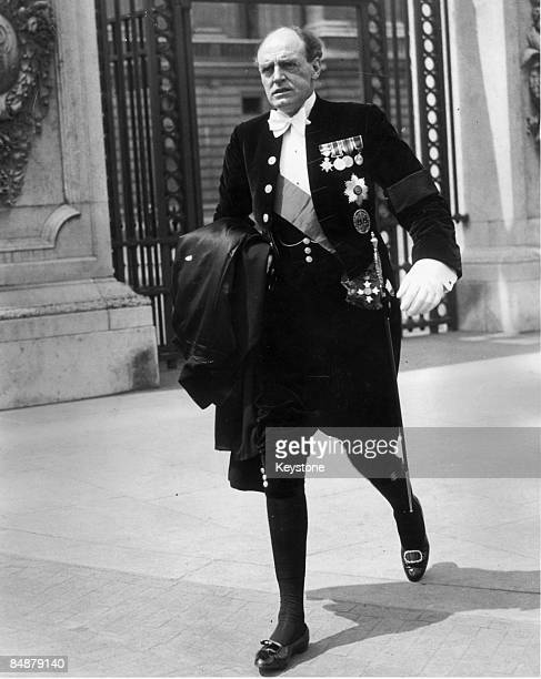John Reith, 1st Baron Reith , Director-General of the BBC, attends a levee at Buckingham Palace, 9th June 1936.