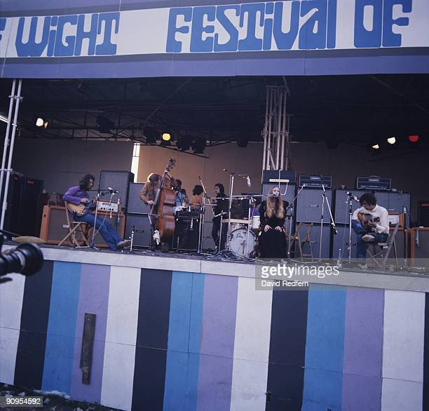 John Renbourn Danny Thompson Jacqui McShee and Bert Jansch of Pentangle perform on stage at the Isle of Wight Festival on August 31 1969