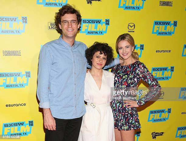 """John Reynolds, Alia Shawkat and Meredith Hagner attend """"Search Party"""" Panel and Q&A, TBS at SXSW 2016 on March 13, 2016 in Austin, Texas. 26003_005"""