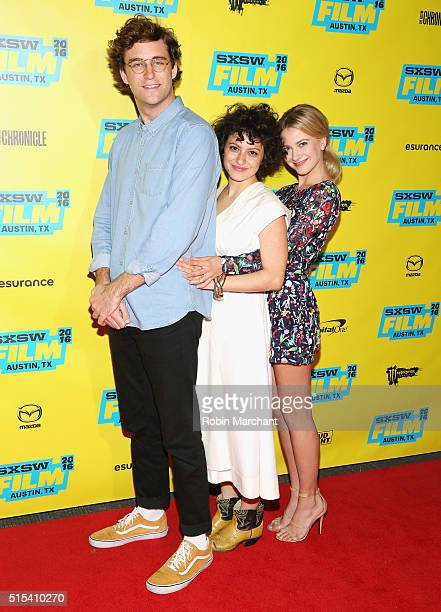 John Reynolds Alia Shawkat and Meredith Hagner attend Search Party Panel and QA TBS at SXSW 2016 on March 13 2016 in Austin Texas 26003_005