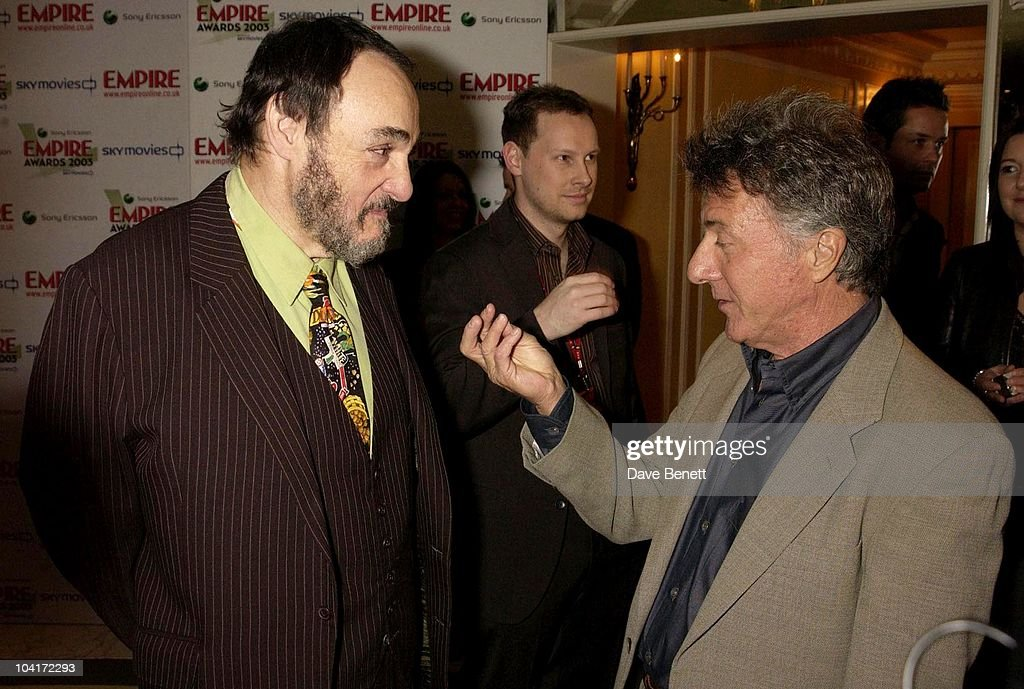 John Rhys, Davies & Dustin Hoffman, The Empire Movie Awards 2003 Held At The Dorchester Hotel In London