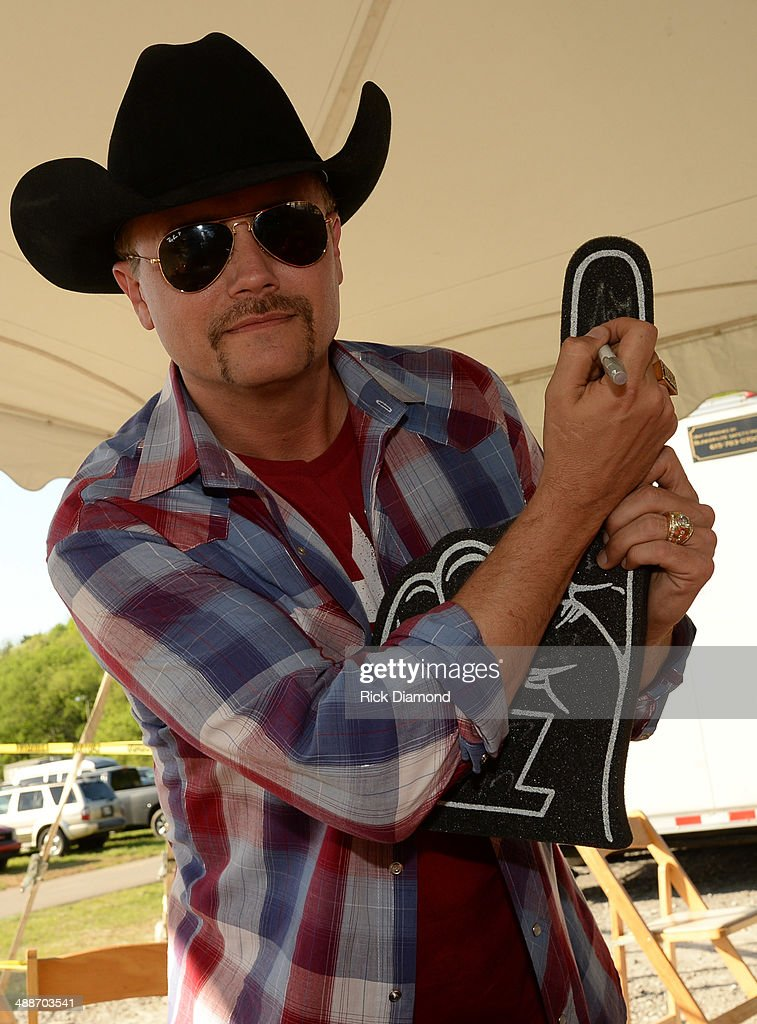 John Rich of Big & Rich backstage of 'ESPN GameDay' opening taping as Big & Rich, Cowboy Troy, Lizzie Hale and Travie McCoy perform at The Woods Amphitheater at Fontanelon May 7, 2014 in Nashville, Tennessee.