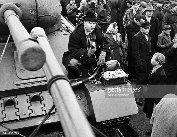 NBC News' Berlin News Chief/foreign correspondent John Rich in Sovietoccupied Berlin covering the division of the city between East and West Berlin...
