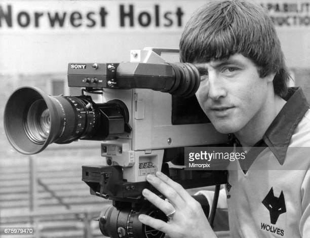 John Richards Wolverhampton Wanderers striker 19691983 pictured with tv camera at Molineux April 1981