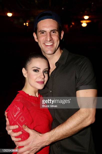 John Riddle and Meghan Picerno pose at the 32nd Anniversary Performance and Party for The Phantom of The Opera on Broadway at The Majestic Theatre on...