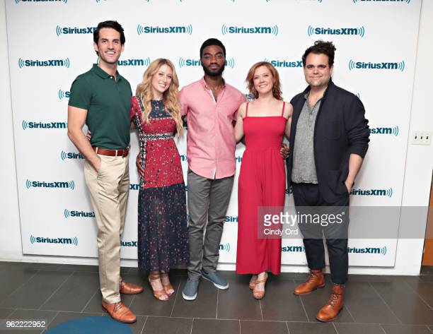John Riddle Caissie Levy Jelani Alladin Patti Murin and Greg Hildreth take part as SiriusXM on Broadway presents 'Curtain Call with FROZEN The...