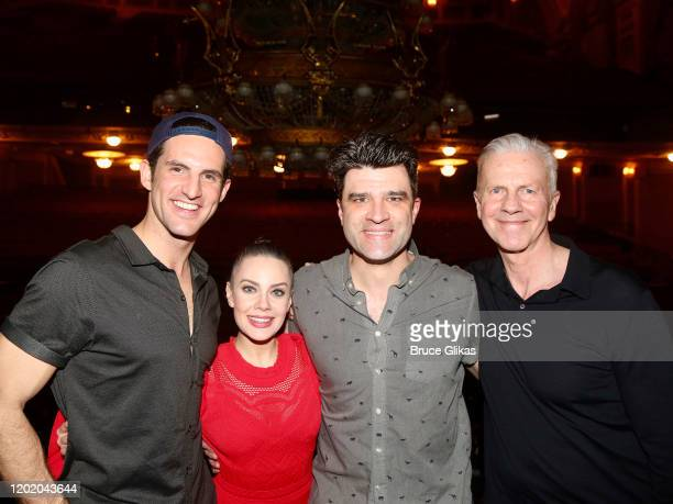 John Riddle Eryn LeCroy Meghan Picerno Ben Crawford and Musical Supervisor David Caddick pose at the 32nd Anniversary Performance and Party for The...