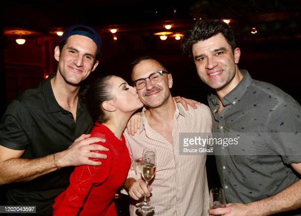 John Riddle Meghan Picerno Publicist Michael Borowski and Ben Crawford pose at the 32nd Anniversary Performance and Party for The Phantom of The...