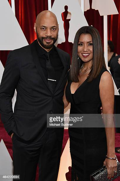 John Ridley and Gayle Ridley attend the 87th Annual Academy Awards at Hollywood Highland Center on February 22 2015 in Hollywood California
