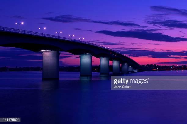 john ringling causeway bridge - sarasota stock pictures, royalty-free photos & images