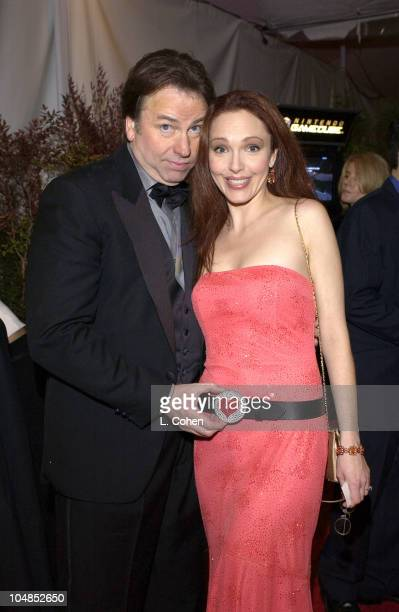 John Ritter Amy Yasbeck in a JenStone belt at the 2003 People's Choice Awards Backstage Creations Talent Retreat