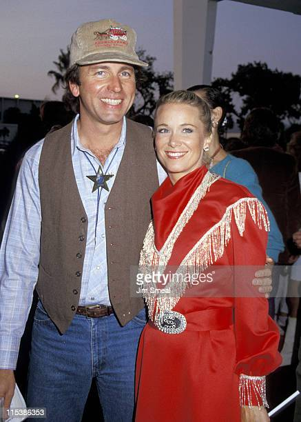 John Ritter and wife Nancy during SHARE Boomtown Party May 16 1987 at Santa Monica Civic Auditorium in Santa Monica California United States