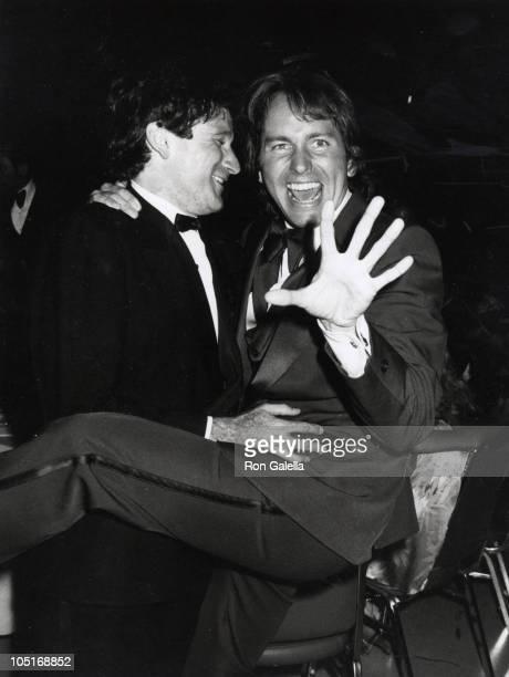 John Ritter Robin Williams during 31st Annual Primetime Emmy Awards at Pasadena Civic Auditorium in Pasadena California United States