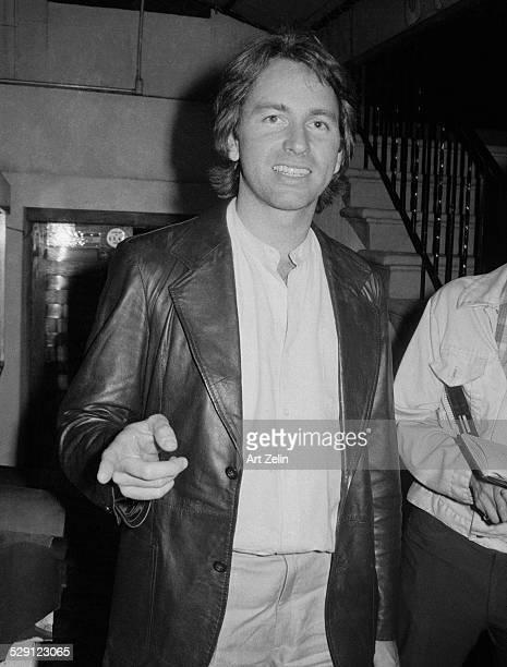 John Ritter wearing a leather coat circa 1970 New York