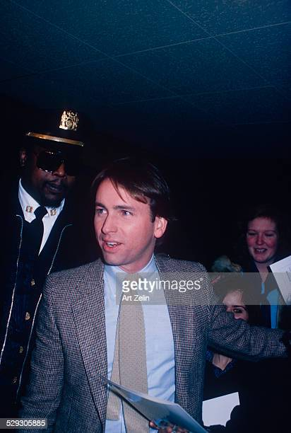 John Ritter with autograph hounds and security circa 1970 New York