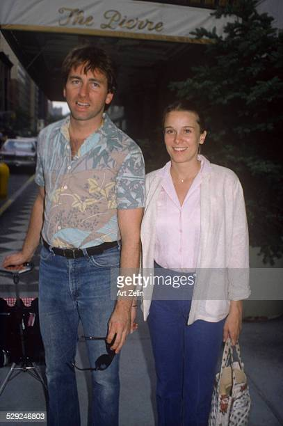 John Ritter with his wife Nancy Morgan outside The Piere circa 1970 New York