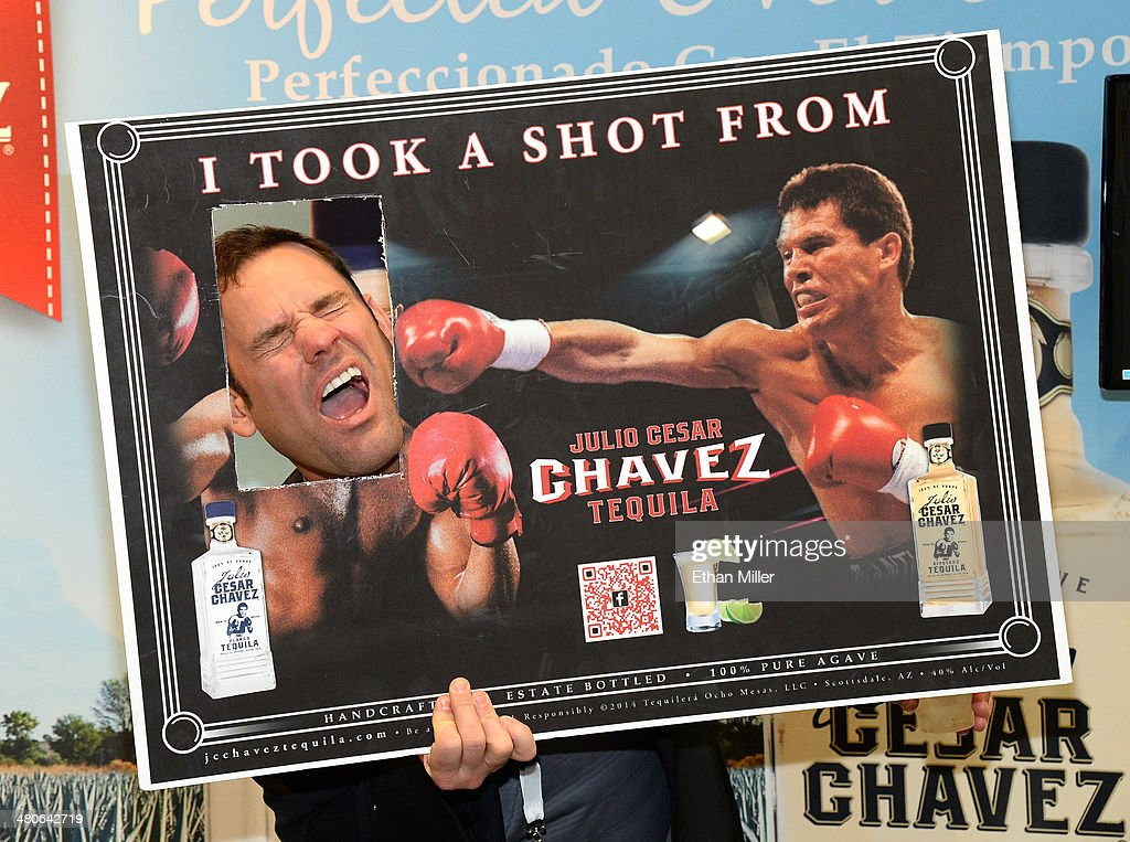 John Rivers from Julio Cesar Chavez Tequila jokes around at the 29th annual Nightclub & Bar Convention and Trade Show at the Las Vegas Convention Center on March 25, 2014 in Las Vegas, Nevada.