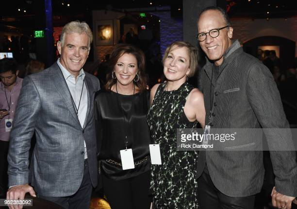 L/R John Roberts Fox News White House Correspondent Kyra Phillips CNN News Anchor Carol Hagen Holt and Lester Holt NBC Nightly News/Dateline attend...