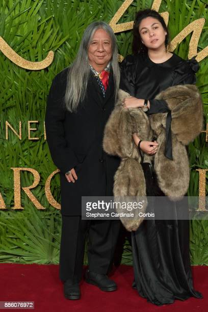 John Rocha an guest attend the Fashion Awards 2017 In Partnership With Swarovski at Royal Albert Hall on December 4 2017 in London England