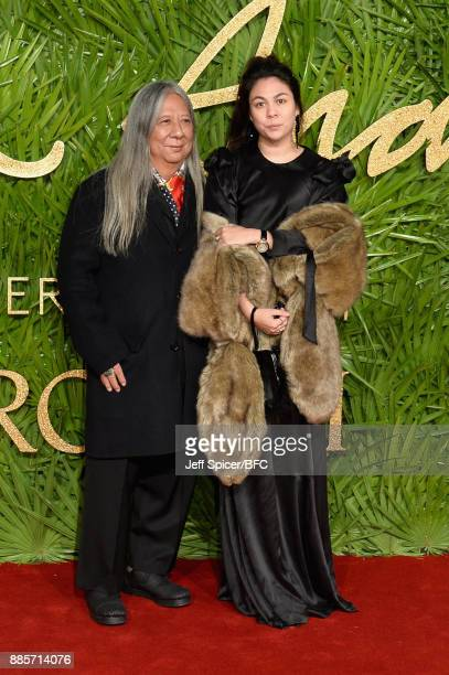 John Rocha and guest attend The Fashion Awards 2017 in partnership with Swarovski at Royal Albert Hall on December 4 2017 in London England