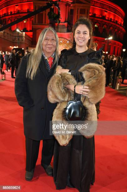 John Rocha and Simone Rocha attend The Fashion Awards 2017 in partnership with Swarovski at Royal Albert Hall on December 4 2017 in London England