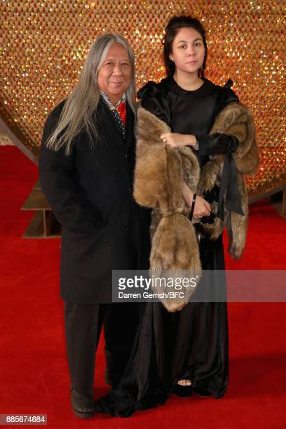 John Rocha and Simone Rocha attend the Swarovski Prolouge at The Fashion Awards 2017 in partnership with Swarovski at Royal Albert Hall on December 4...