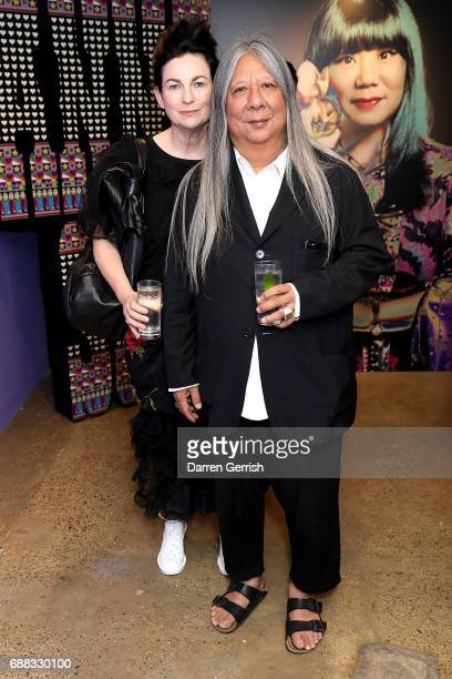 John Rocha and wife Odette Gleeson attend the World of Anna Sui Exhibition Private View at the Fashion and Textile Museum on May 25 2017 in London...
