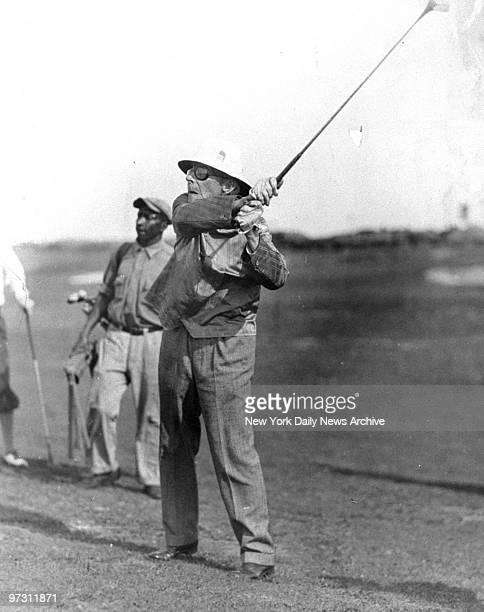 John Rockefeller golfing in Florida at the age of 93