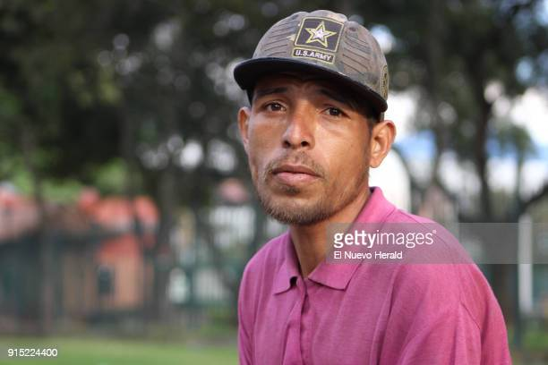 John Rodriguez walked the 340 miles between Coecuta and Bogota and now often sleeps in the streets or in the seats of the bus terminal