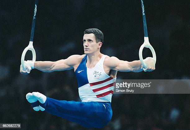 John Roethlisberger of the United States performs his Rings routine during the Men's Individual AllAround event of the XXVI Summer Olympic Games on...