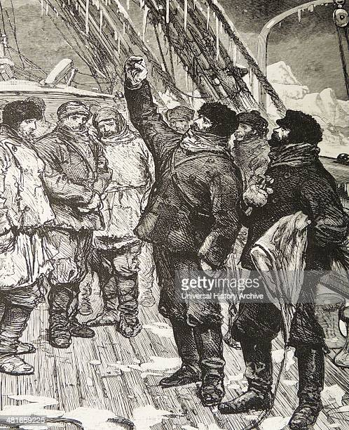 John Ross British navigator and Arctic explorer abandoning his ship 'Victory' at the end of the 18291833 expedition in search of the Northwest...