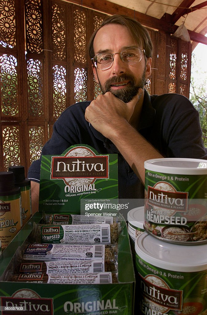 John Roulac founder and president of Nutiva, the country's largest all hemp oriented company. He is  : ニュース写真