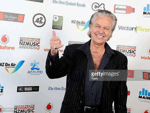 John Rowles poses during the 2009 Vodafone Music Awards at Vector Arena on October 8, 2009 in Auckland, New Zealand.