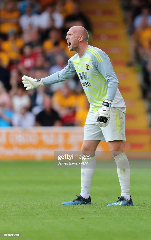 John Ruddy of Wolverhampton Wanderers during the Pre Season Friendly between Wolverhampton Wanderers and Ajax at Banks' Stadium on July 19, 2018 in Walsall, England.