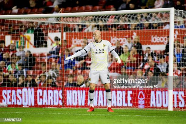 John Ruddy of Wolverhampton Wanderers in action during the Carabao Cup Second Round match between Nottingham Forest and Wolverhampton Wanderers at...
