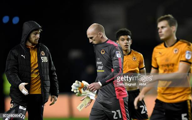John Ruddy of Wolverhampton Wanderers stands dejected at full time during the Sky Bet Championship match between Wolverhampton Wanderers and Norwich...